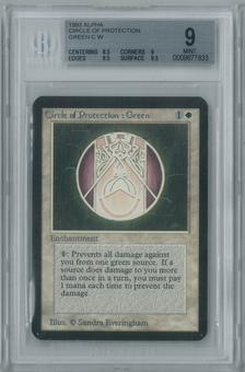 Magic the Gathering Alpha Circle of Protection: Green Single BGS 9 (8.5, 9, 9.5, 9.5)
