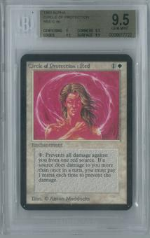 Magic the Gathering Alpha Circle of Protection: Red Single BGS 9.5 (9, 9.5, 9.5, 9.5)