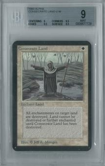 Magic the Gathering Alpha Consecrate Land Single BGS 9 (9, 9.5, 9.5, 8.5)