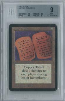 Magic the Gathering Alpha Copper Tablet Single BGS 9 (9.5, 8.5, 9.5, 9)
