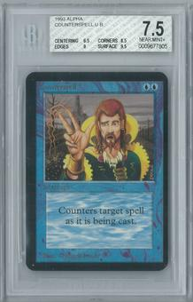 Magic the Gathering Alpha Counterspell Single BGS 7.5 (6.5, 8.5, 9, 9.5)