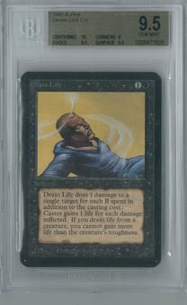 Magic the Gathering Alpha Drain Life Single BGS 9.5 (10, 9, 9.5, 9.5)