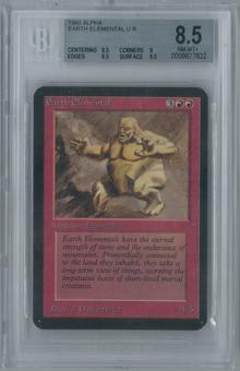 Magic the Gathering Alpha Earth Elemental Single BGS 8.5 (8.5, 9, 8.5, 9.5)