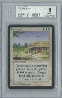 Magic the Gathering Alpha Farmstead Single BGS 8 (10, 8, 8, 7)