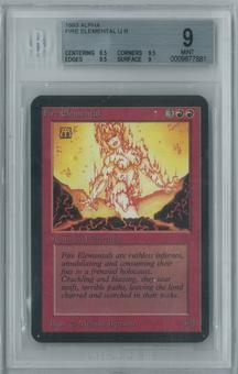 Magic the Gathering Alpha Fire Elemental Single BGS 9 (8.5, 9.5, 9.5, 9)