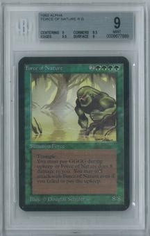 Magic the Gathering Alpha Force of Nature Single BGS 9 (9, 8.5, 9.5, 9)