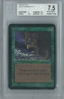 Magic the Gathering Alpha Giant Growth Single BGS 7.5 (7, 8.5, 9.5, 8.5)