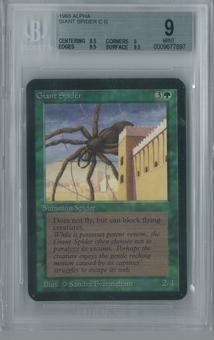 Magic the Gathering Alpha Giant Spider Single BGS 9 (8.5, 9, 9.5, 9.5)