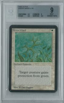 Magic the Gathering Alpha Green Ward Single BGS 9 (8.5, 9, 9.5, 9.5)