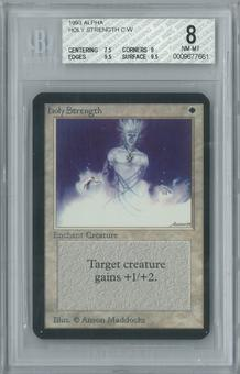 Magic the Gathering Alpha Holy Strength Single BGS 8 (7.5, 9, 9.5, 9.5)