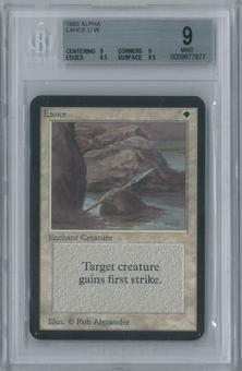 Magic the Gathering Alpha Lance Single BGS 9 (9, 9, 9.5, 9.5)