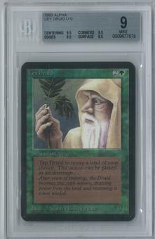 Magic the Gathering Alpha Ley Druid Single BGS 9 (9.5, 9.5, 9.5, 8.5)
