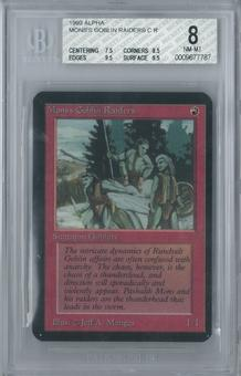 Magic the Gathering Alpha Mon's Goblin Raiders Single BGS 8 (7.5, 8.5, 9.5, 9.5)