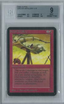 Magic the Gathering Alpha Orcish Artillery Single BGS 9 (8.5, 9, 9.5, 9.5)