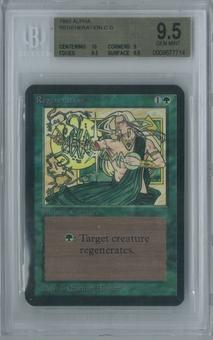 Magic the Gathering Alpha Regeneration Single BGS 9.5 (10, 9, 9.5, 9.5)