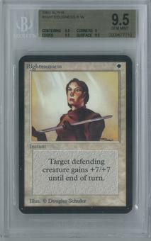 Magic the Gathering Alpha Righteousness Single BGS 9.5 (9.5, 9, 9.5, 9.5)