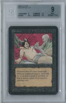 Magic the Gathering Alpha Sacrifice Single BGS 9 (9, 8.5, 9.5, 9.5)
