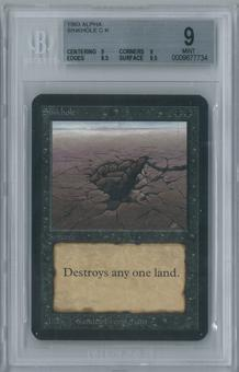 Magic the Gathering Alpha Sinkhole Single BGS 9 (9, 9, 9.5, 9.5)