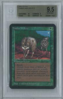 Magic the Gathering Alpha Timber Wolves Single BGS 9.5 (10, 9, 9.5, 9.5)