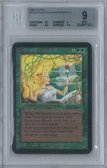 Magic the Gathering Alpha Verduran Enchantress Single BGS 9 (8.5, 9, 9.5, 9.5)
