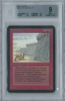 Magic the Gathering Alpha Wall of Stone Single BGS 9 (9.5, 9.5, 9.5, 8.5)