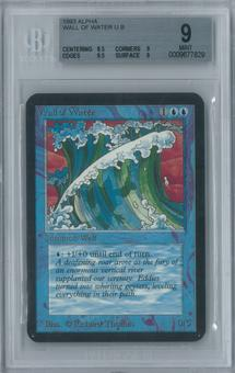 Magic the Gathering Alpha Wall of Water Single BGS 9 (8.5, 9, 9.5, 9)