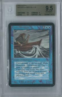 Magic the Gathering Alpha Water Elemental Single BGS 9.5 (9.5, 9, 9.5, 9.5)
