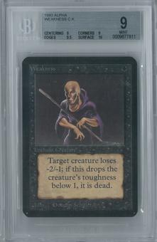 Magic the Gathering Alpha Weakness Single BGS 9 (9, 9, 9.5, 10)