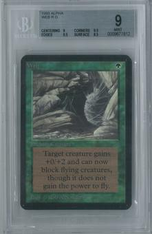 Magic the Gathering Alpha Web Single BGS 9 (9, 9.5, 9.5, 8.5)