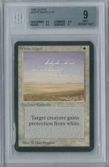 Magic the Gathering Alpha White Ward Single BGS 9 (9.5, 8.5, 9.5, 9)