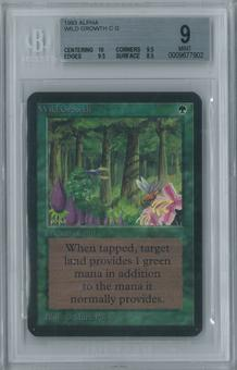 Magic the Gathering Alpha Wild Growth Single BGS 9 (10, 9.5, 9.5, 8.5)