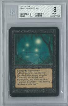 Magic the Gathering Alpha Will-O'-The-Wisp Single BGS 8 (8, 9, 9.5, 7)