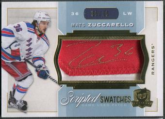 2014/15 The Cup #SWMZ Mats Zuccarello Scripted Swatches Patch Auto #35/35