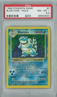 Pokemon Base Set Unlimited Blastoise 2/102 Holo Rare PSA 8.5