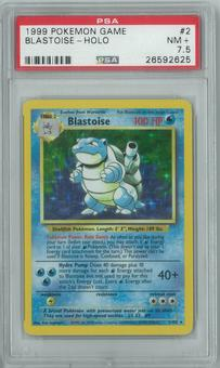 Pokemon Base Set Unlimited Blastoise 2/102 Holo Rare PSA 7.5