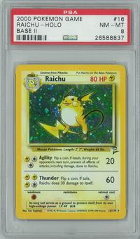 Pokemon Base Set 2 Raichu 16/130 Single PSA 8.5