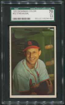 1953 Bowman Color Baseball #32 Stan Musial SGC 70 (EX+ 5.5)