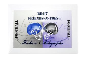 2017 Historic Autograph Friends and Foes Football Hobby Box