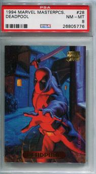 1994 Fleer Marvel Masterpieces Deadpool #28 PSA 8 *26805776*
