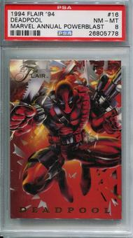 1994 Flair '94 Marvel Annual Powerblast Deadpool #16 PSA 8 *26805778*