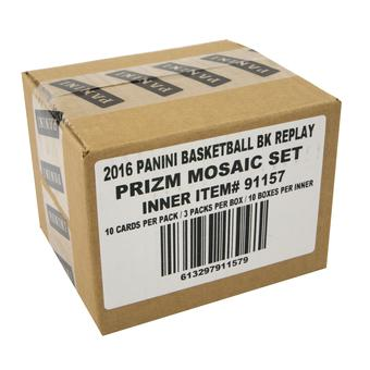 2016/17 Panini Replay Prizm Mosaic Basketball Hobby 10-Box Case