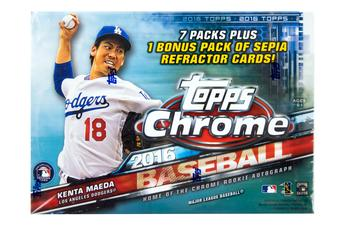 2016 Topps Chrome Baseball 8-Pack Box