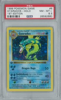 Pokemon Base Set 1 1st Edition Shadowless Single Gyarados 6/102 - PSA 8.5