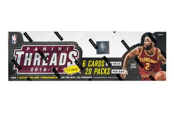 2016/17 Panini Threads Basketball Hobby Box (PLUS 2 Panini Day Packs!)