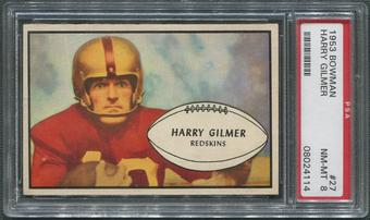 1953 Bowman Football #27 Harry Gilmer PSA 8 (NM-MT)