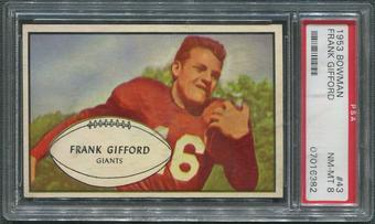 1953 Bowman Football #43 Frank Gifford SP PSA 8 (NM-MT)