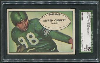 1953 Bowman Football #52 Al Conway Rookie SGC 92 (NM-MT+ 8.5)