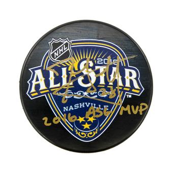 John Scott Autographed All Star Hockey Puck