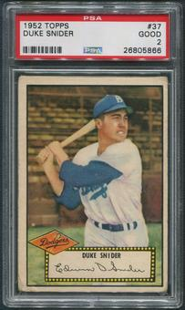 1952 Topps Baseball #37 Duke Snider PSA 2 (GOOD)