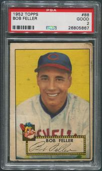 1952 Topps Baseball #88 Bob Feller PSA 2 (GOOD)